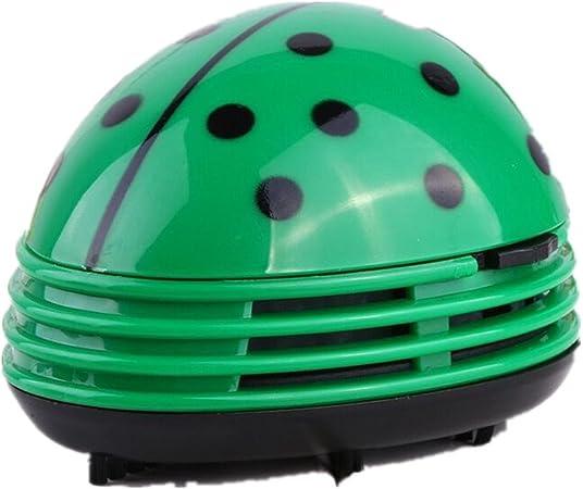 Migas Recogemigas a forma mariquita de la suerte.Mini Aspiradora para Desktop, Escritorio vacío polvo limpiador escarabajo mariquita Verde: Amazon.es: Hogar