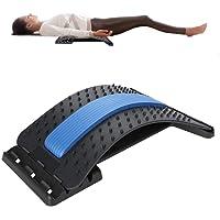 ZJchao Masajeador de Espalda Soporte Lumbar, Dispositivo de estirador de Espalda Lumbar Estiramiento de tracción Relajación Almohada de descompresión espinal para aliviar el Dolor de Espalda Baja