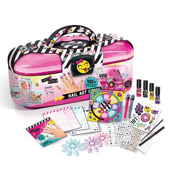 Nail Art Caddy Only 4 Girls Storage Nail Polish Stickers Glitter Body Marker Tattoo Instructions