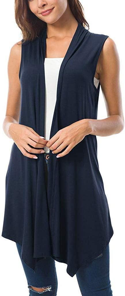 Black Cap Sleeve Asymmetrical Drape Cover-Up//Tunic S