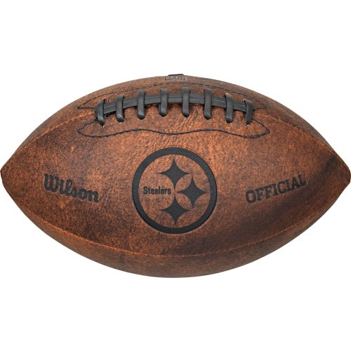 Throwback Mini Batting Helmet - Wilson NFL Pittsburgh Steelers Throwback 9 inch Composite Leather Football