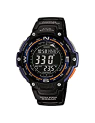 Casio Mens Pro Trek TWIN SENSOR COMPASS Digital Sport Quartz Watch (Imported) SGW-100-2B