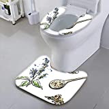 Jiahonghome Toilet seat Cover Vector of Super Food chia Seeds Organic Dietary Supplement