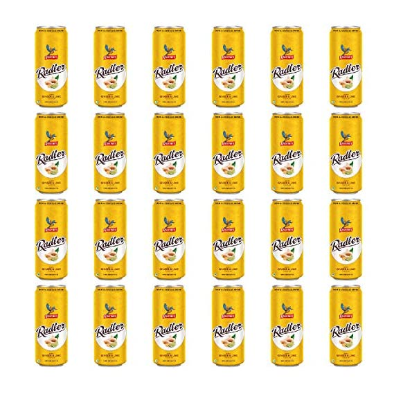 Kingfisher Radler Ginger Lime Non Alcoholic Malt Drink Can, 24 Pack, 24 x 300 ml