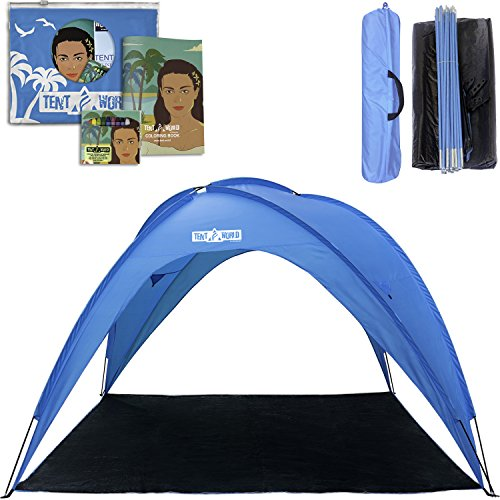 Thermalabs Beach Tent Sun shelter UV Protection - Portable Sunshade Canopy Shade for Outdoor Camping Patio Party, Family, Baby, Girls for 8 People