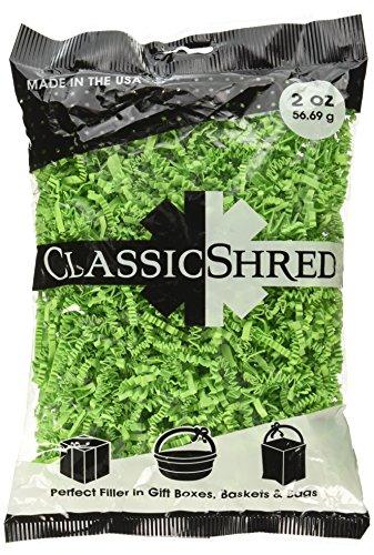 SPRING-FILL C2 ozLGHS-P Paper Shred, 2 oz, Lime