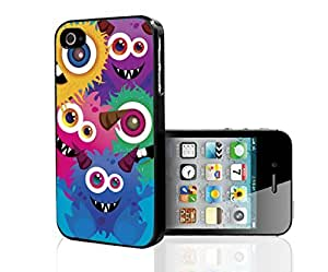 Colorful Monsters on Blue Background Background Hard Snap on Phone Case (iPhone 5/5s) wangjiang maoyi