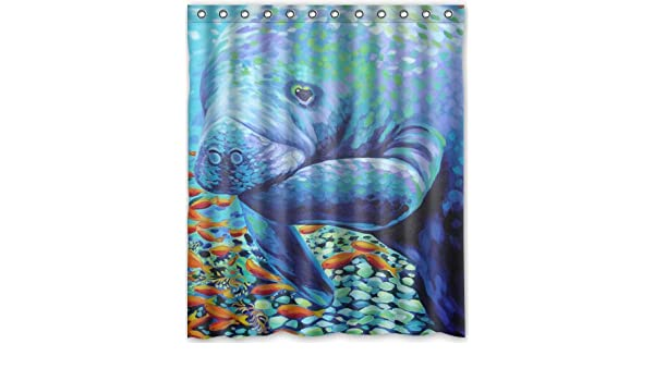 Amazon Brand New Manatee Waterproof Polyester Bath Shower Curtain60 By 72 Inch Home Kitchen