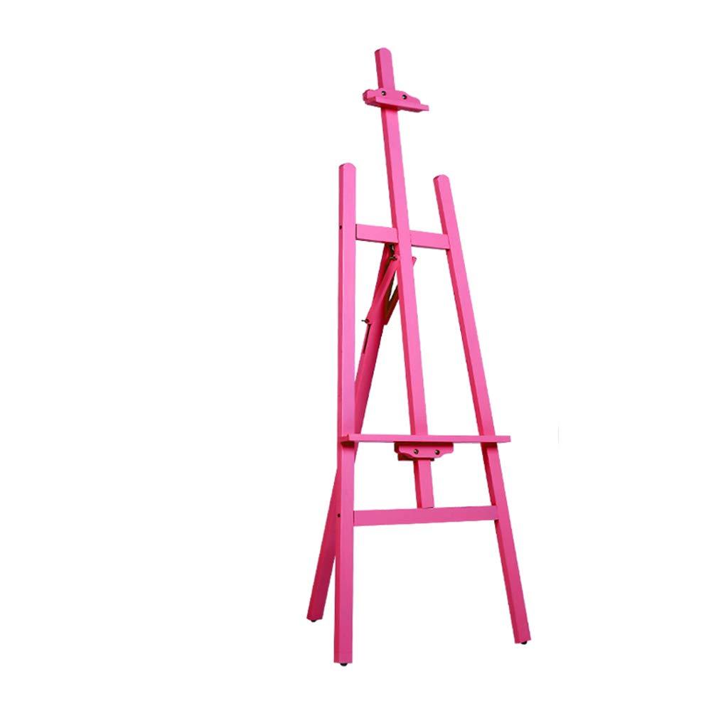 JSFQ 1.5メートルスケッチソリッドウッドオイルイーゼル、学生の成人向け初心者屋内使用、ピンク イーゼル   B07QQLLN5H