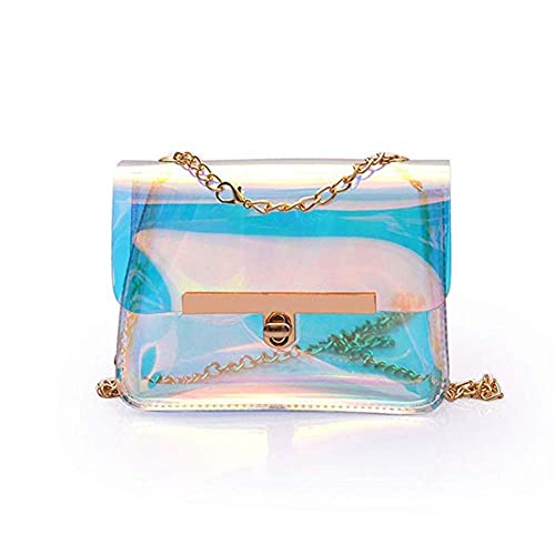 76779d1c185d Hologram Clear Crossbody Purse Small Transparent Square Shoulder Bags for  Girls 1