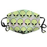 N7bloom Womens Face Mask Anti-Dust Respirator Gift Fantasy Aliens