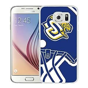 NCAA Southern Jaguars 05 White Popular Custom Design Samsung Galaxy S6 G9200 Phone Case