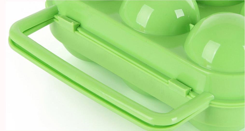 Oksale Portable 6 Eggs Plastic Container Holder Folding Egg Storage Box Handle Case (Green) by Oksale® (Image #4)