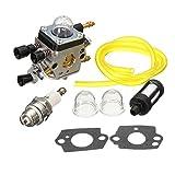 carburetor with filter blower bulb for stihl bg45 bg55 zama