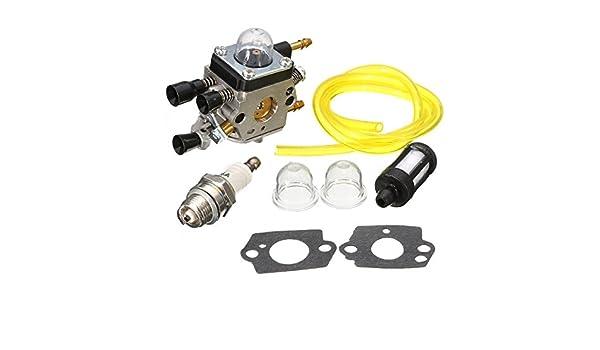Carburetors & Parts WCHAOEN Carburetor with Filter Blower Bulb for Stihl BG45 BG55 Zama C1Q S68G C1Q S64 Tool Accessories