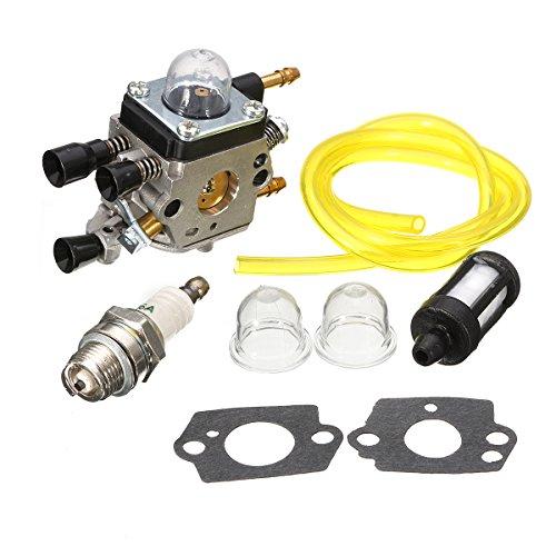 carburetor with filter blower bulb for stihl bg45 bg55 zama by QOJA