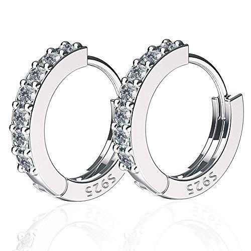 Diamond small hoop elegant earrings