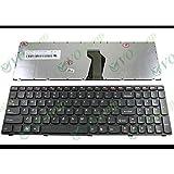 Generic New US Laptop Keyboard for Lenovo Z570 V570 B570 B570A B570G B575 V570C Black (black Frame) 25-013358, V-117020FS1-US , V117020FS1, 11S25013358, REV:0A, Rev.: R0A, 25-011847, 9Z.N5SSW.C01, MP-0A B5CSW, 25-013328, 9Z.N5SSW.A01, MP-0AB5ASW