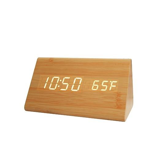 30 opinioni per Forepin® Moderno Design Scrivania in Legno Orologio Mini Triangolo Desk Clock