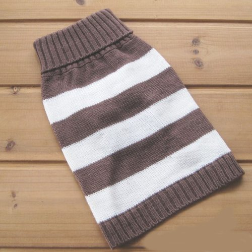 Pictures of Turtleneck Stripes Pet Clothes Dog Wool Classic 4