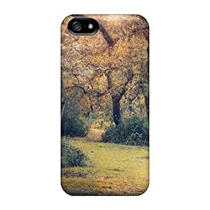 5/5s Scratch-proof Protection Cases Covers For Iphone/ Hot Autumn Forest Meadow Phone Cases