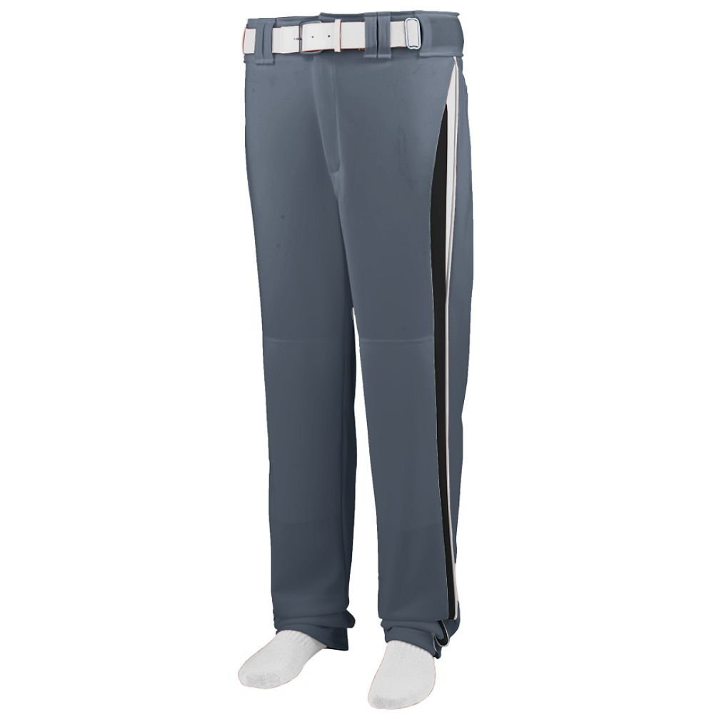 Augusta Sportswear 1475 Adult's Line Drive Baseball Pant - Graphite/Black/White 1475A M