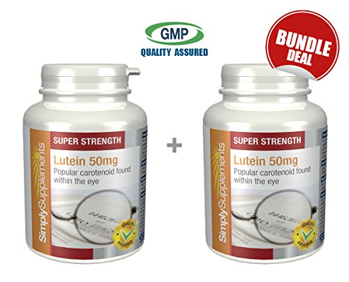 Lutein 50mg Bundle Deal 120 Capsules in total by SimplySupplements by Simply Supplements