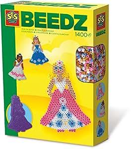 SES Creative - Set de cuentas para planchar de princesas, multicolor (14671)