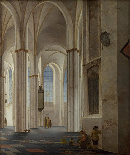 Oil Painting 'Pieter Saenredam The Interior Of The Buurkerk At Utrecht', 12 x 14 inch / 30 x 37 cm , on High Definition HD canvas prints, gifts for Bar, - Napa Locations Store Style