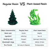 ANYCUBIC 3D Printer Resin with Low Odor and Safety, 405nm UV Plant-Based Rapid Resin with High Precision and Quick Curing for LCD 3D Printing - 500ML Green