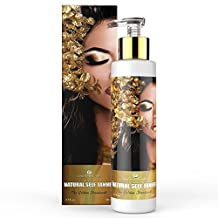 Canada's Best Organic Self Tanner with Free Guide! Indoor Tanning Lotion for Body and and Face [Overnight Sunless Tanning] Streak Free and Waterproof