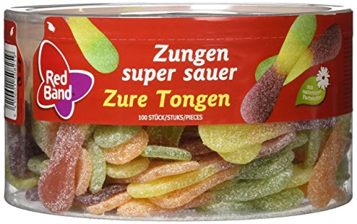 Red Band Zungen super sauer 1,2 kg Dose | Fruchtgummi