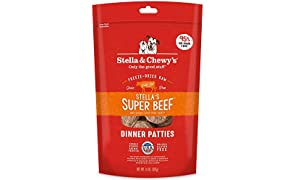 Stella & Chewy's Freeze-Dried Raw Stella's Super Beef Dinner Patties Dog Food, 14 oz. Bag, Freeze-Dried Raw Dinner Patties