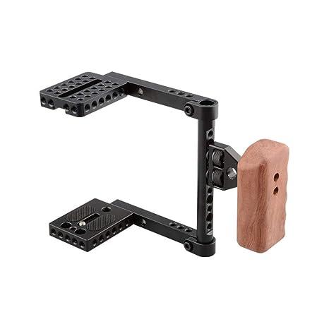 CAMVATE DSLR - Jaula estabilizadora para cámara de vídeo (Mango de ...