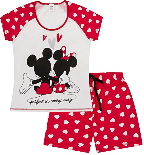 Disney Minnie and Mickey Mouse Perfect in Every Way Short Ladies Pajamas Women Pjs (XXL) -