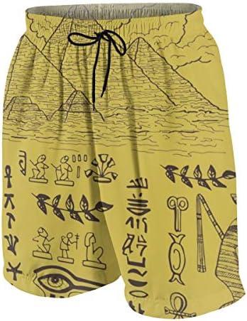 キッズ ビーチパンツ エジプト ピラミッド サーフパンツ 海パン 水着 海水パンツ ショートパンツ サーフトランクス スポーツパンツ ジュニア 半ズボン ファッション 人気 おしゃれ 子供 青少年 ボーイズ 水陸両用