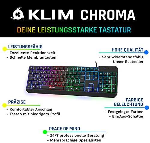 ⭐️KLIM Chroma Teclado Gaming en GERMAN USB – Alto Desempeño ...