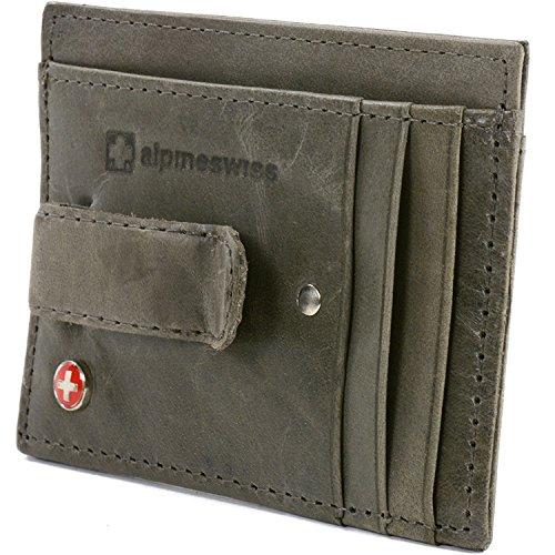 Alpine Swiss Mens Money Clip Genuine Leather Minimalist Slim Front Pocket Wallet