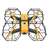 Latest App Controlled VR FPV Drone Camera, Outdoor Indoor 1080P HD 6-Axis Gyros RTF RC Quadcopter Dron With Optical Flow 2.4Ghz Wifi (Yellow)