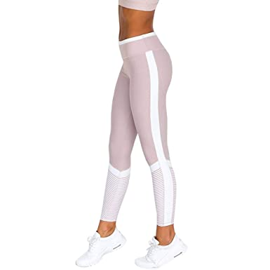 YONKINY Leggings De Yoga Largo Mujer Pantalones De Running ...