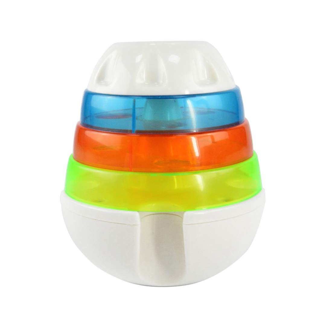 1411cm QYSZYG Pet Toy Pet Puzzle Training Supplies Three-layer Leaking Tower Leaking Food Ball Toy Tumbler Dog Toy pet toy (Size   14  11cm)