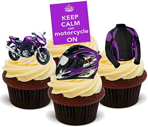 Lila Motorrad Mix Lustig Geburtstag Neuheit Premium