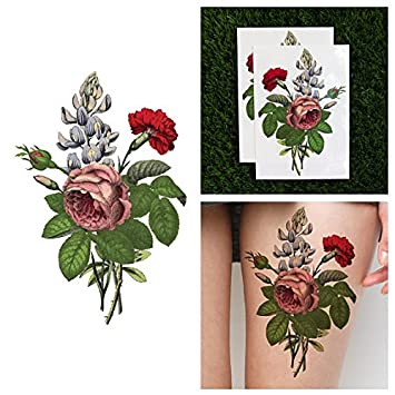 Amazon Com Tattify Flower Bouquet Temporary Tattoo What In