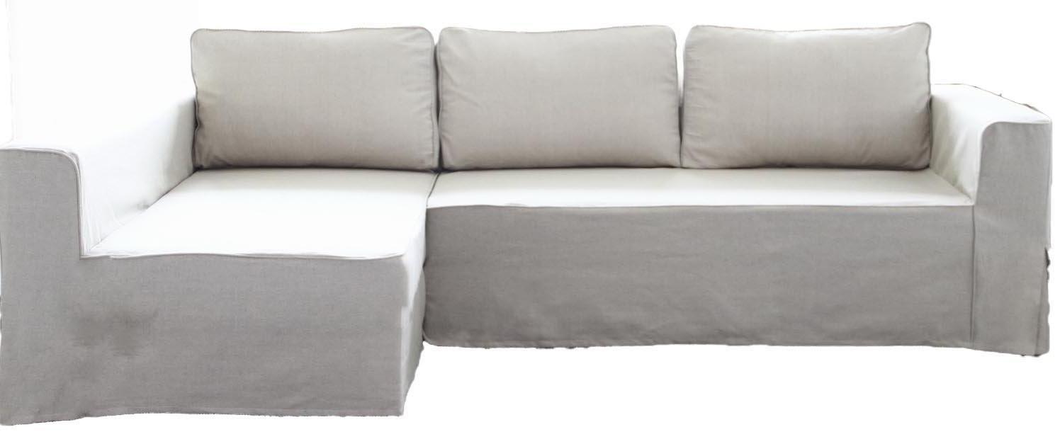 HomeTown Market The Cotton Manstad 交換用カバー IKEA Manstadソファベッド用 シェーズユニットカバーまたはコーナースリップカバー付き Longer Right Arm Longer Right Arm コットン ホワイト(Cotton White) B07NKQC28R