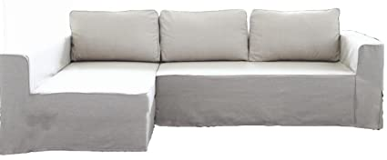 Super Hometown Market The Cotton Manstad Cover Replacement Is Custom Made For Ikea Manstad Sofa Bed With Chaise Sectional Cover Or Corner Slipcover Cotton Short Links Chair Design For Home Short Linksinfo