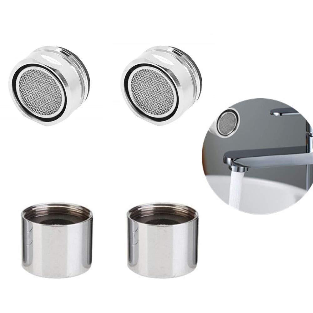 4pcs Chytaii Aireadores Filtro para Grifo Ahorro de Agua Salpicaduras Punta del Filtro Silver Filtro de Cocina/Bañ o Grifo Aerosol de Grifo de Agua