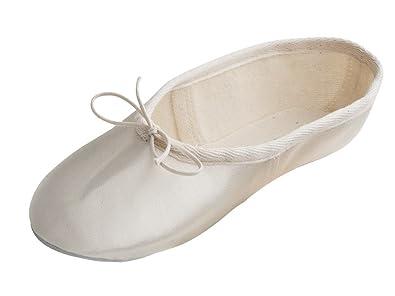 95c81e558f59 Katz Dancewear Ladies Girls Ivory Satin Rubber Sole Bridesmaid Wedding Ballet  Shoes Pumps (Childs Size