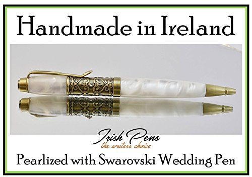 Handmade in Ireland a wedding Pen Filigree and Swarovski crystals for signing the register on the alter for the special wedding album picture and one of the first heirloom in - Album Swarovski