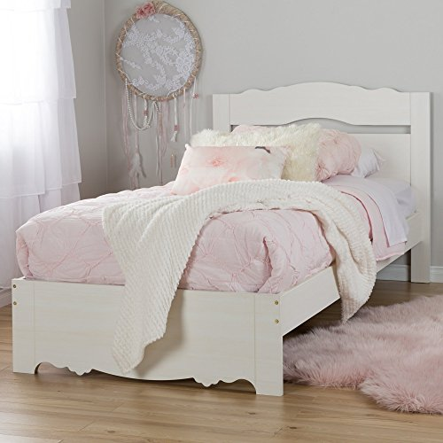 South Shore 39'' Lily Rose Bed Set, Twin, White Wash by South Shore