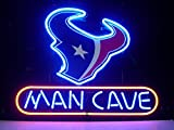 Queen Sense 14'x10' Houston Texan Man Cave Neon Sign Light Beer Bar Pub Real Glass Lamp DE33